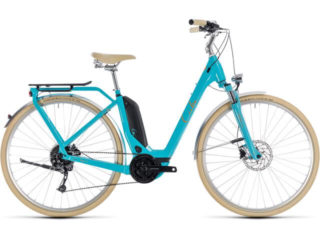 Cube Elly Ride Hybrid 400 Easy Entry Aqua'n'Orange